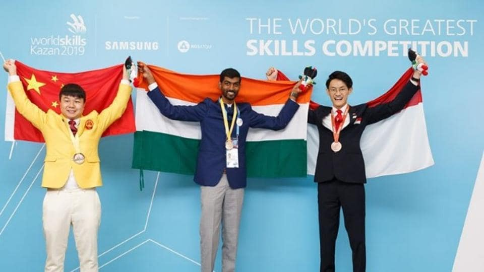25-year-old Aswatha Narayana Sanagavarapu from Odisha became the first-ever gold medallist from India in the prestigious World Skill Competition at Kazan (Russia).