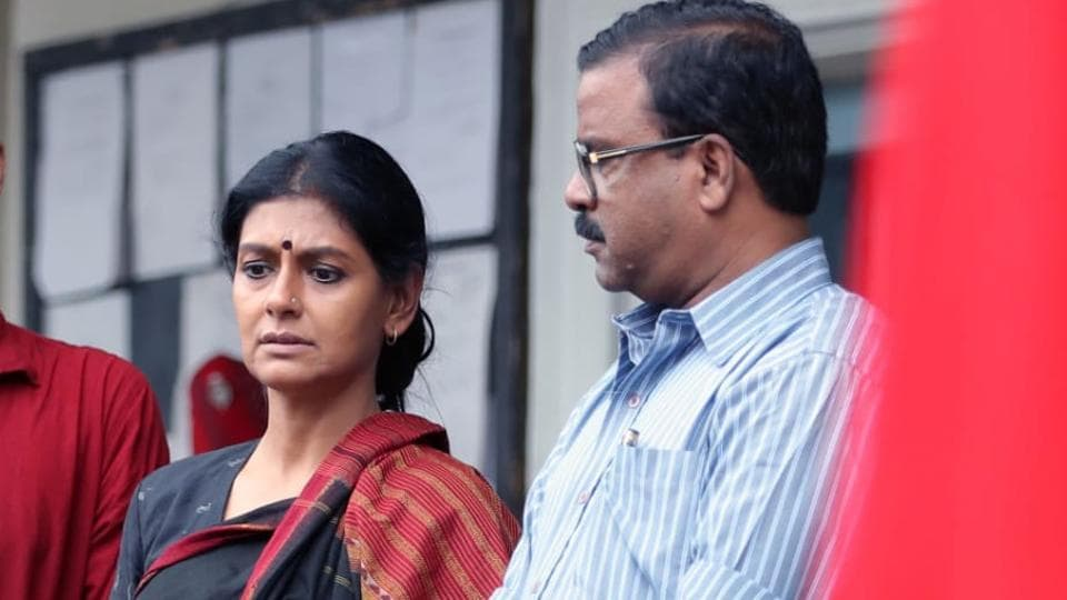 Nandita Das on sets of Virataparvam.