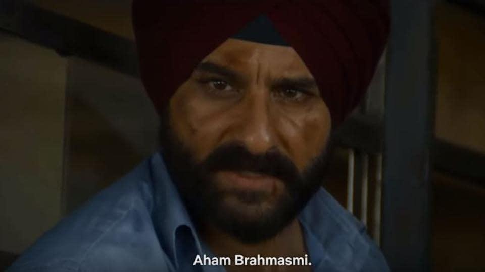 Sartaj Singh, as played by Saif Ali Khan, in the final scene of Sacred Games 2.