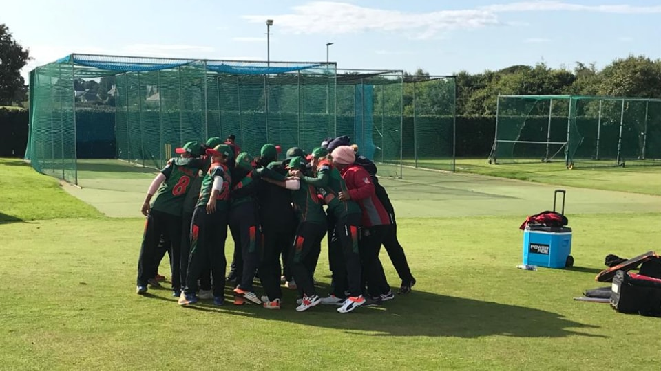 Bangladesh Women's Cricket Team at the T20 World Cup qualifier.