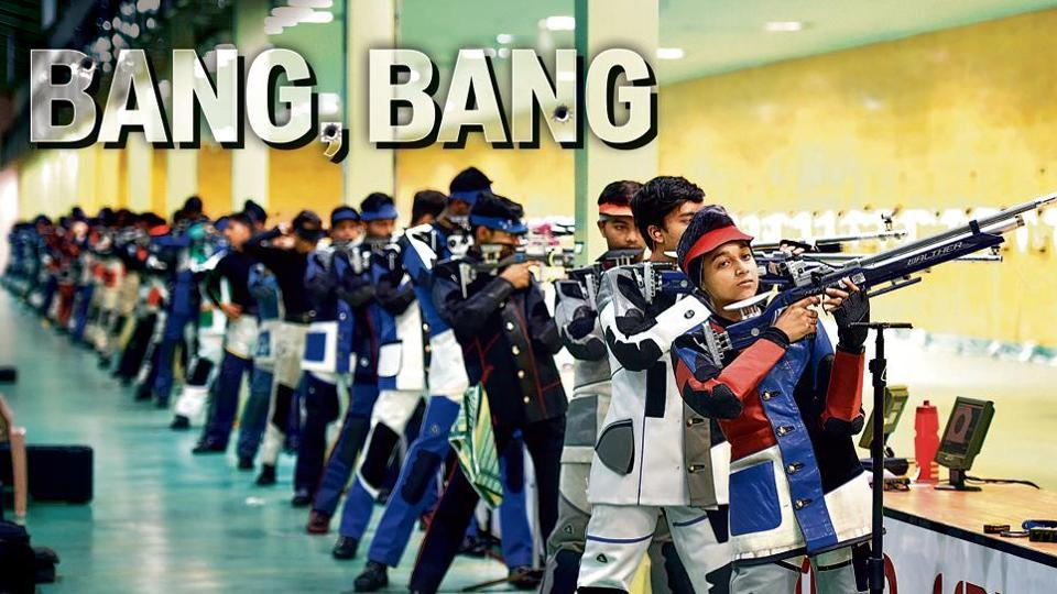 At the Karni Singh shooting range in New Delhi, a prestigious national tournament is flooded by young shooters trying to make their mark, firing alongside the likes of Olympic medallist Gagan Narang