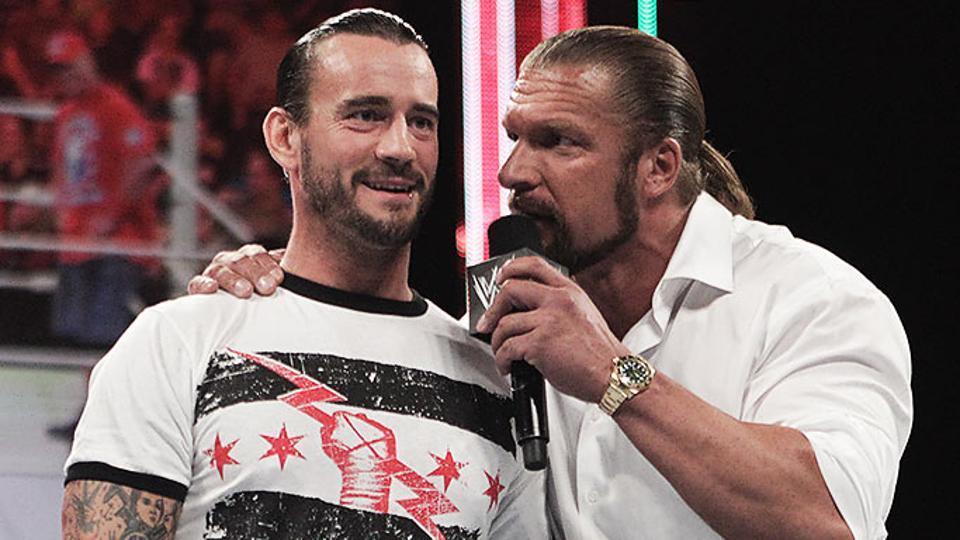 Triple H had a problem with CM Punk.