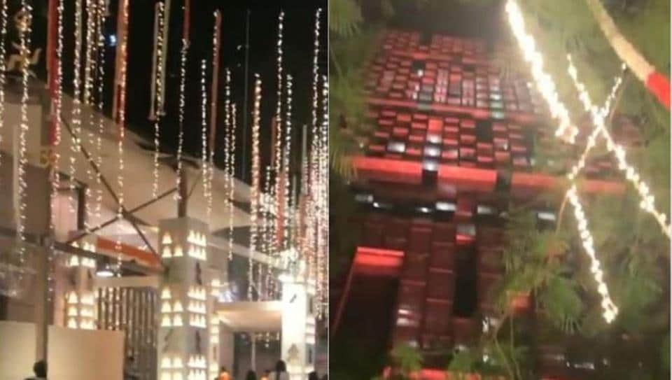 Mukesh Ambani's residence Antilia is all decked up for Ganesh Chaturthi.