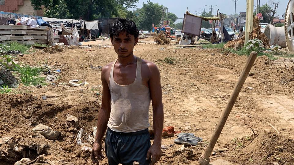 Jehangir Khan works as a labourer in Gurugram.
