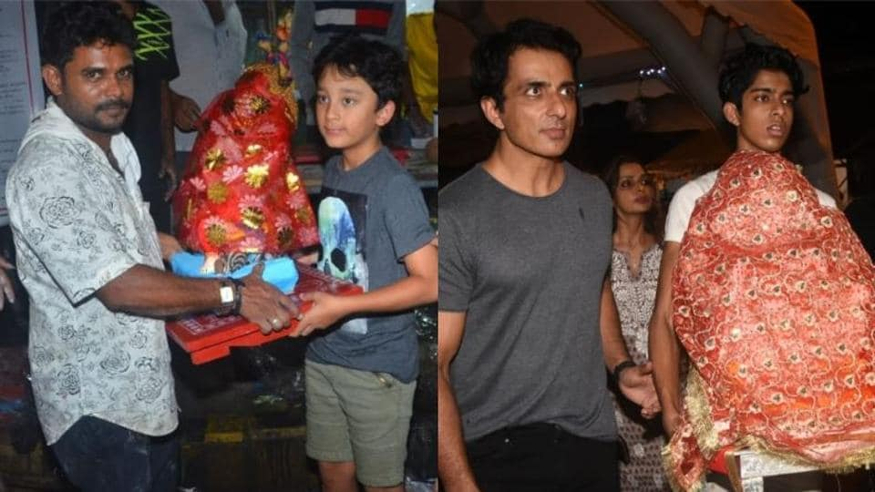 Ganesh Chaturthi 2019: Sanjay Dutt and Sonu Sood's families welcomed Lord Ganesha on Sunday.