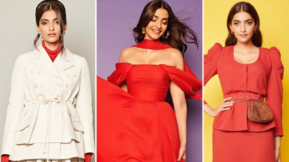 Sonam Kapoor has been stunning us with all her looks for the promotions of her next movie. The common factor? The are all in, or accented with shades of orange and red. Is red Sonam's lucky charm?