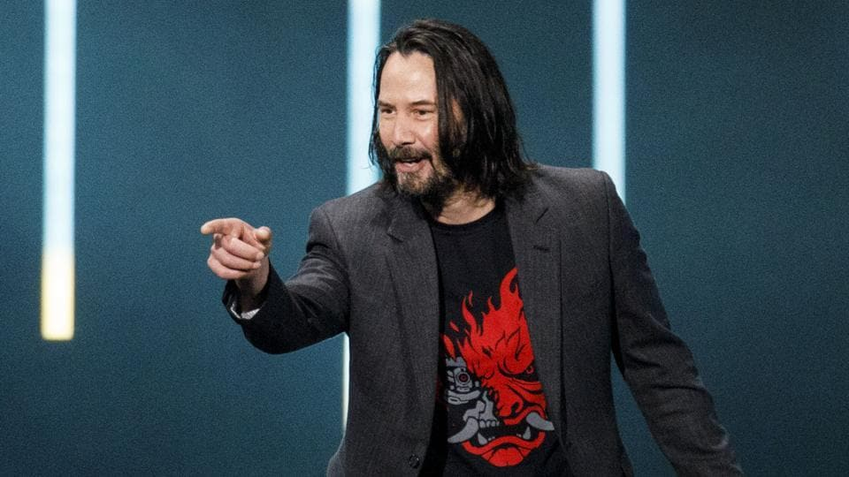 Actor Keanu Reeves of the Cyberpunk 2077 video game launch.