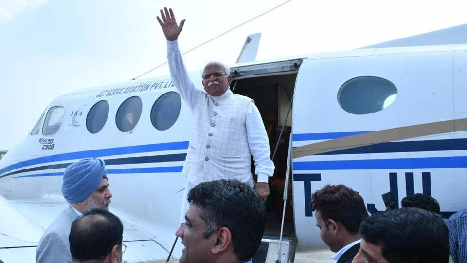 The inaugural flight, covering the distance in 45 minutes, from Hisar to Chandigarh was taken by Haryana chief minister, Hisar MP Brijendra Singh, MLA Kamal Gupta, Spice Jet project officer Manjiv Singh and aviation officials