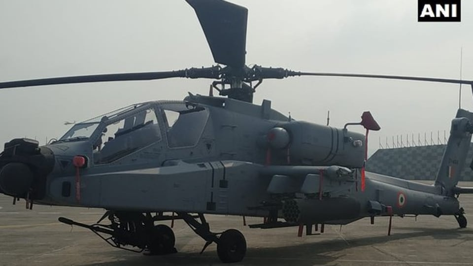 Loaded with fire-and-forget Hellfire missiles, the Apache AH-64E(I) helicopters can track up to 128 targets in a minute and prioritise threats.