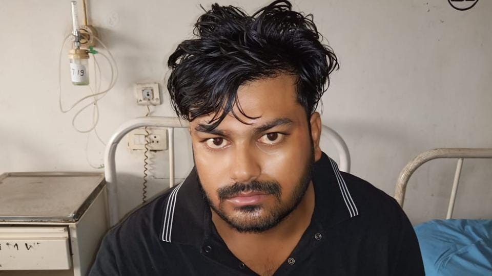 Sachin Kheri, most wanted gangster arrested from Faridabad.