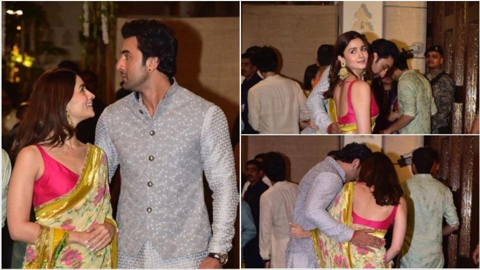 Alia Bhatt and Ranbir Kapoor were seen together at Ambani family's Ganesh Chaturthi celebrations.