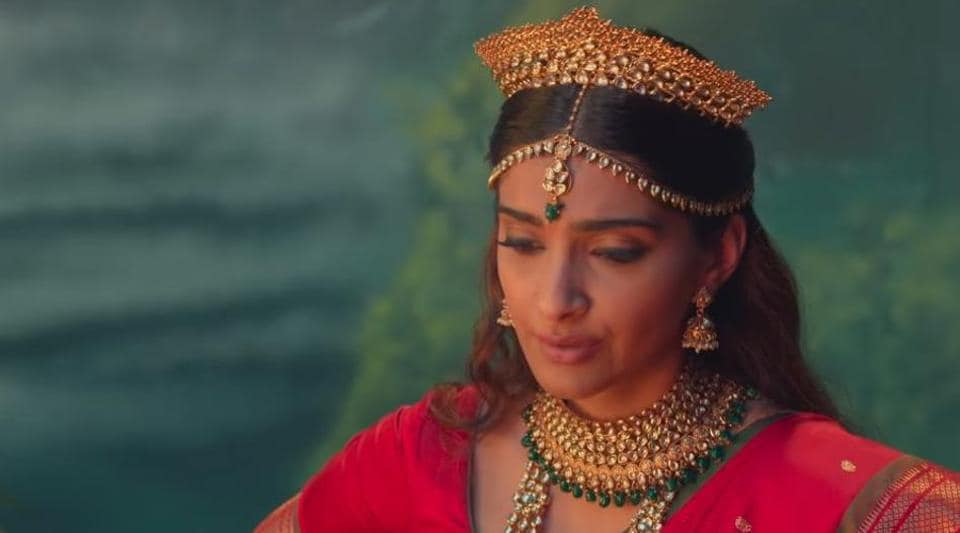 Sonam Kapoor in a still from The Zoya Factor song Lucky Charm.