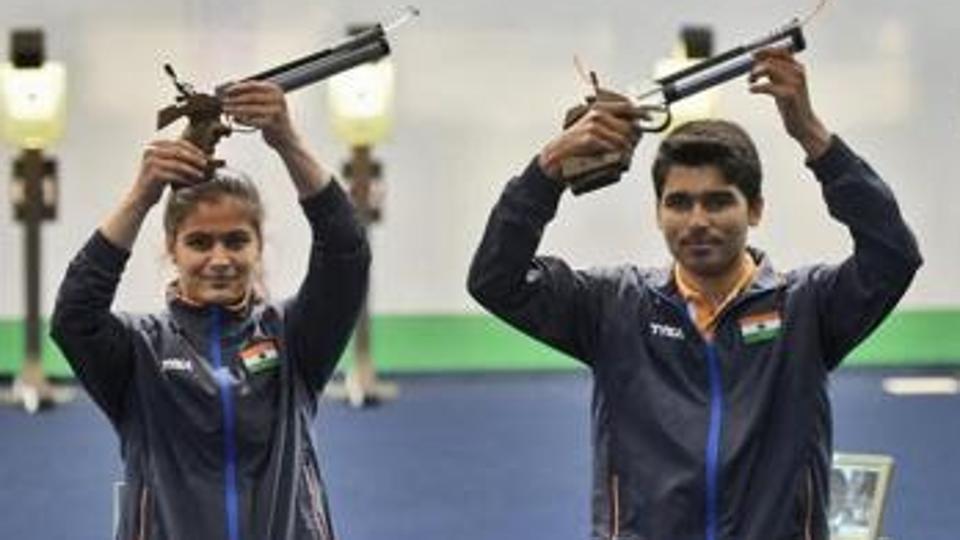 Manu Bhaker and Saurabh Chaudhary won he mixed 10m air pistol gold.