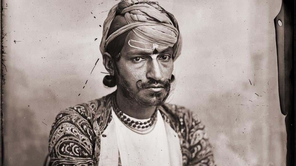 Maharaja Sawai Ram Singh II:Self-portrait with folded arms.