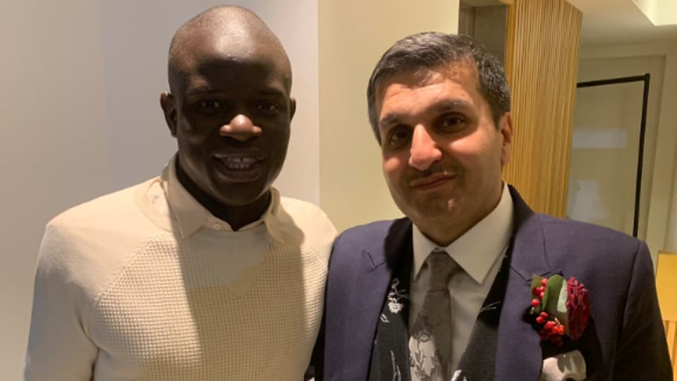 Chelsea's N'Golo Kante at a wedding.
