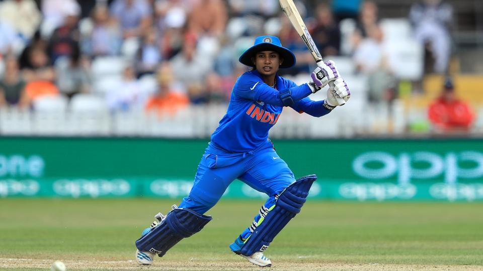 Mithali Raj bats during the England v India group stage match at the ICC Women's World Cup 2017.