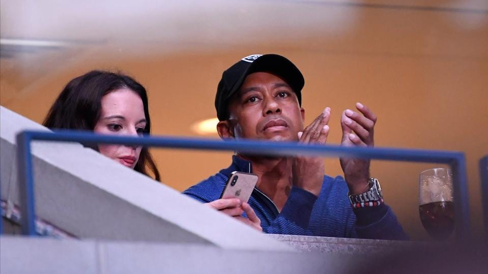 Tiger Woods watches the match between Rafael Nadal of Spain and Marin Cilic of Croatia in the fourth round on day eight of the 2019 U.S. Open tennis tournament at USTA Billie Jean King National Tennis Center. (Robert Deutsch-USA TODAY Sports)