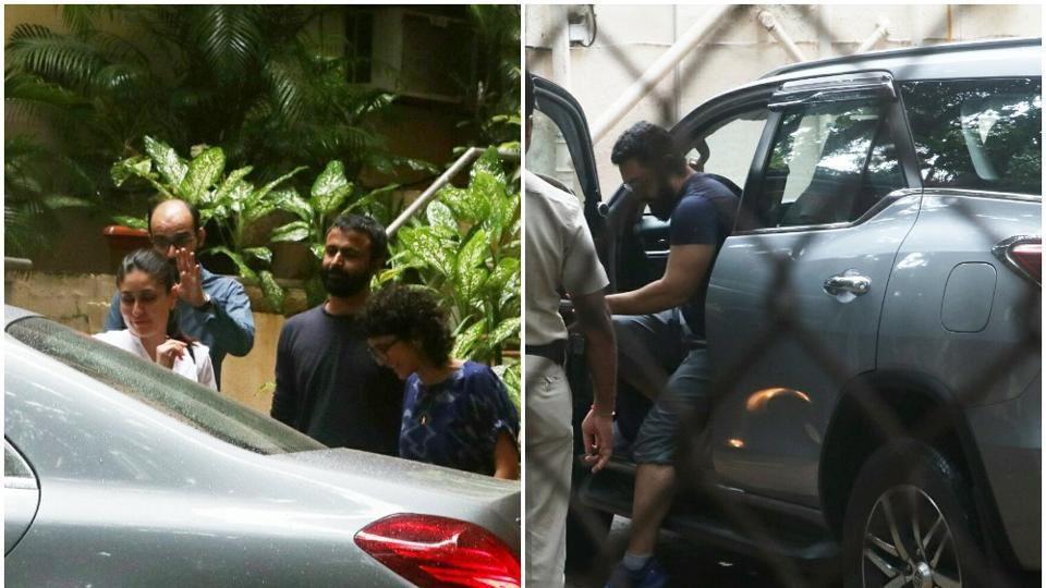 Kareena Kapoor visited Aamir Khan's house on Tuesday.