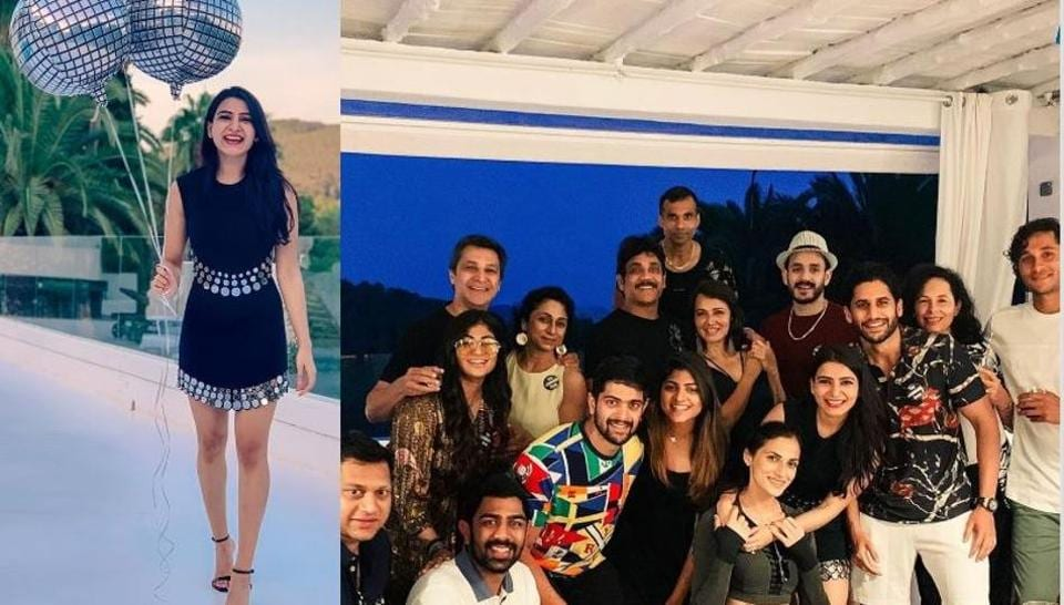 Samantha Akkineni with her family and friends in Europe.