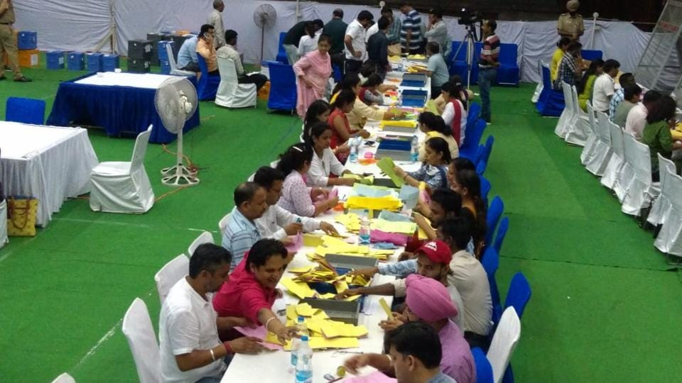 Counting started in PU Gymnasium hall