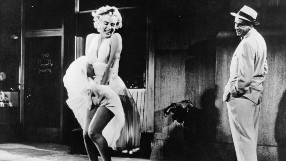 Marilyn Monroe, in The Seven Year Itch and the dress that made history.
