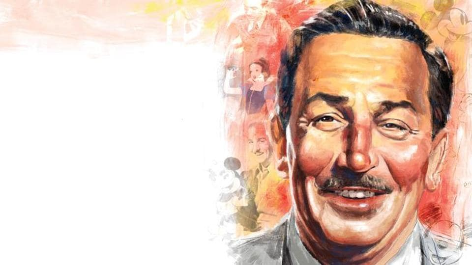 As a boy, Walt Disney was interested in drawing and honing his skills by observing popular artist Ryan Walker's cartoons that appeared in a newspaper.
