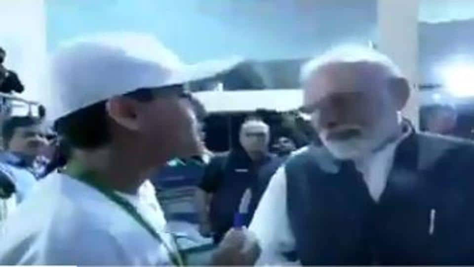 """""""My aim is to become President of India so what steps I should follow,"""" a boy present at the ISROCentre asked Prime Minister Narendra Modi."""
