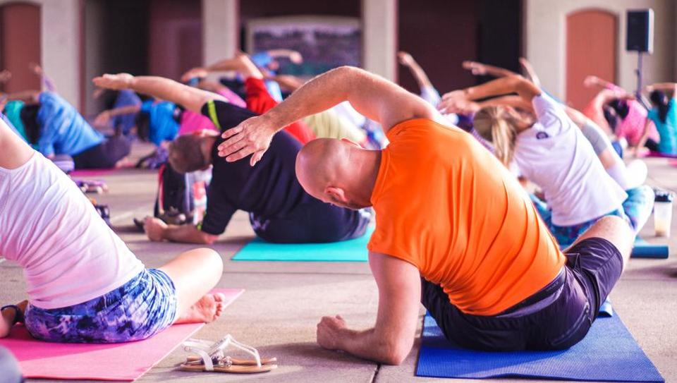 Hot yoga is a modern practice, typically offered in a hot, humid atmosphere, with room temperatures around 105 degrees Fahrenheit.