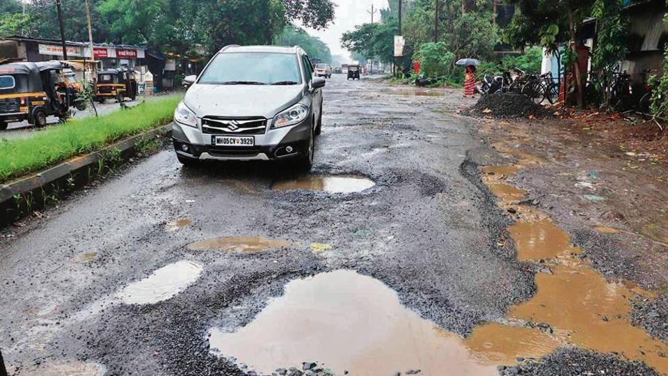Potholes resurface in Kalyan and Dombivli, so do the same