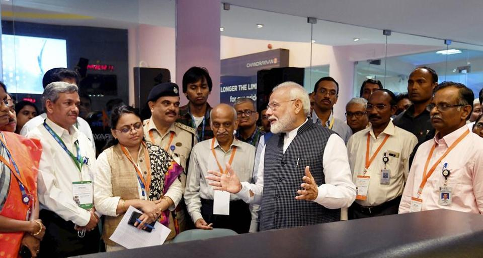 Chandrayaan 2:PM Modi was back in the operations room on Saturday morning to give the scientists a pep talk to lift their morale and underscore the many achievements of the space scientists