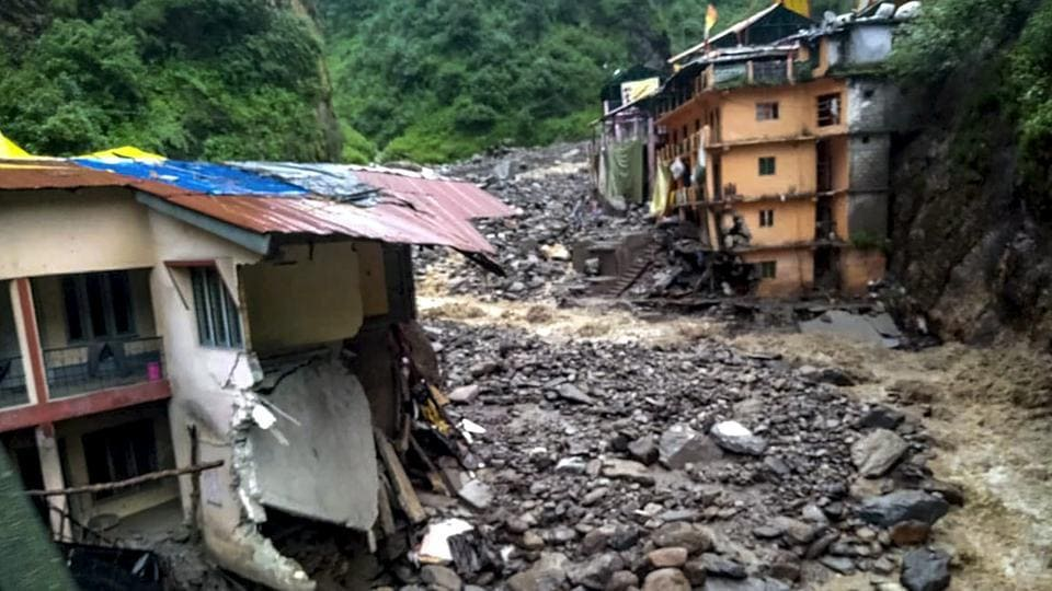 At least one person was dead and two others were injured after heavy rains lashed parts of Pithoragarh and Chamoli districts.
