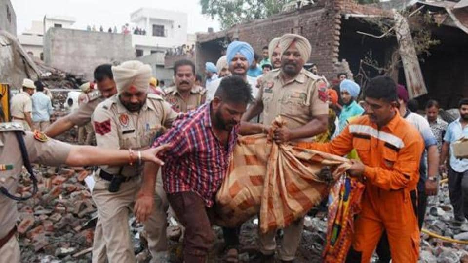 Batala firecracker unit blast claimed 23 lives and injured 20 persons.