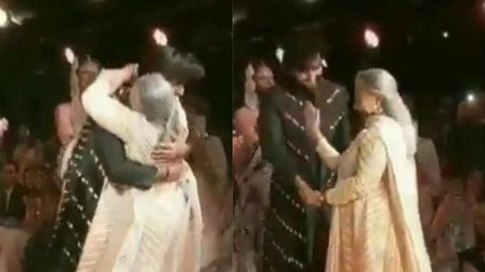 As Deepika Padukone and Meezaan Jafferi showcased new collections of Sandeep Khosla and Abu Jani, Jaya Bachchan, Shweta Bachchan andf Abhishek Bachchan watched from the front row.