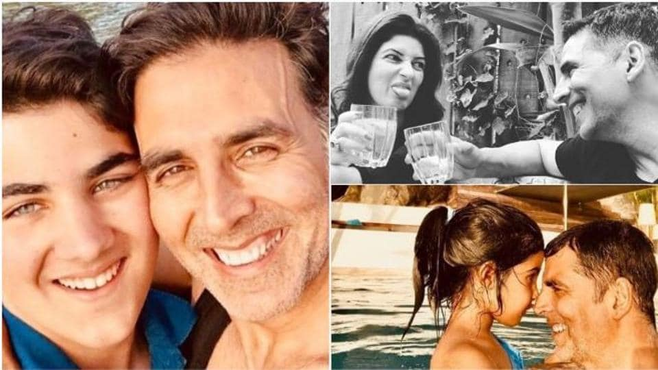 Happy birthday Akshay Kumar: As the actor turns 52, we take a look at some his cutest family pictures.