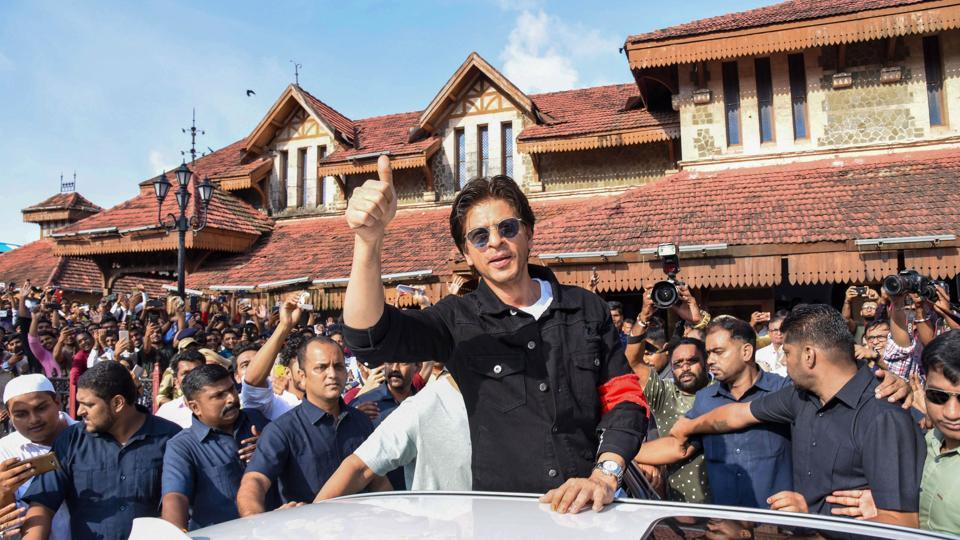 Shah Rukh Khan at the release of special postal cover of Bandra Railway Station in Mumbai, on August 23, 2019. He is currently on a break from films.