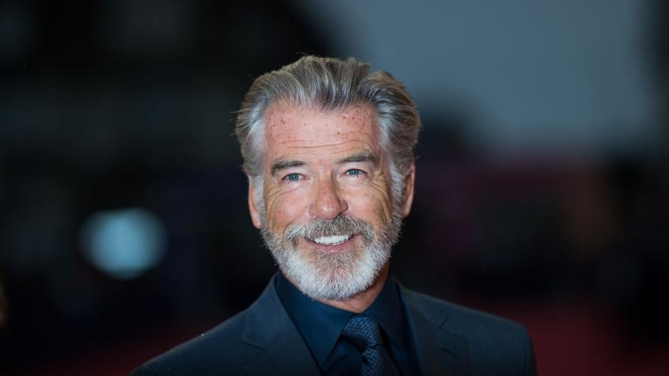 Pierce Brosnan arrives to take part in a tribute ceremony as part of the opening day of the 45th Deauville US Film Festival, on September 6.