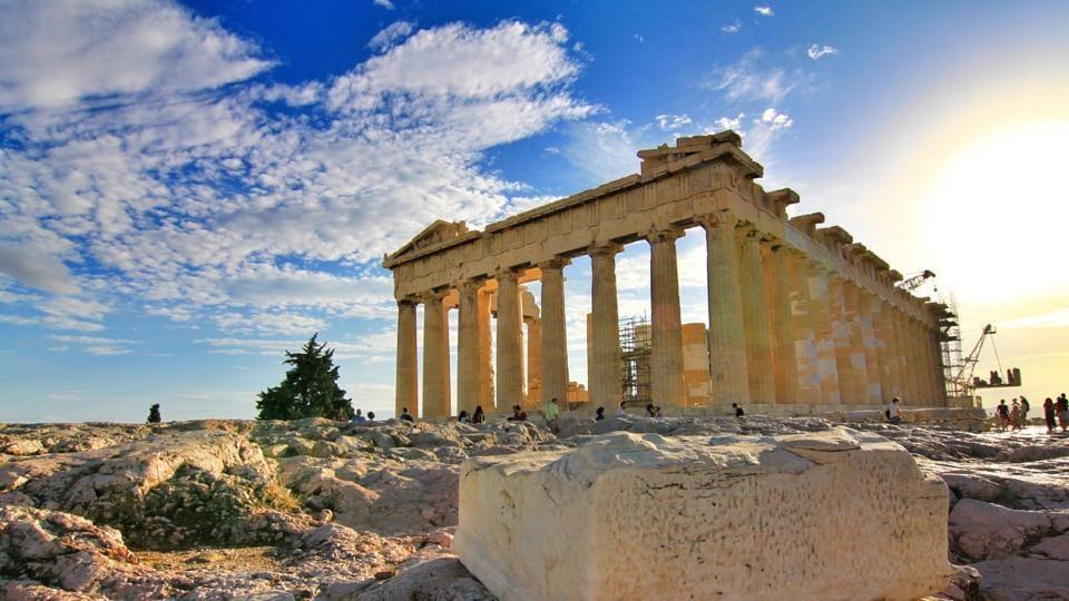 Parthenon in Athens.