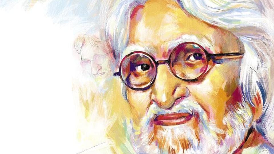 Maqbool Fida Husain (illustration Bishwajith Debnath)