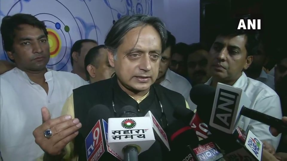 Congress MPShahshi Tharoor said he joined the Congress because he believed it was he best vehicle for advancement of the ideas of inclusive and progressive India.