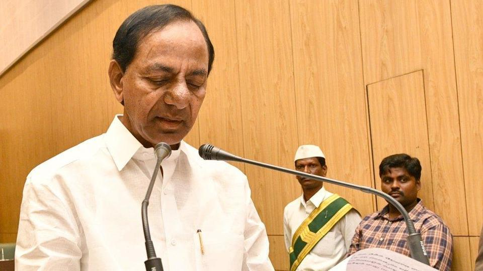 Telangana chief minister KCR attributed the slashing of the budget to the overall economic slowdown in the country, which had its effect on Telangana as well.