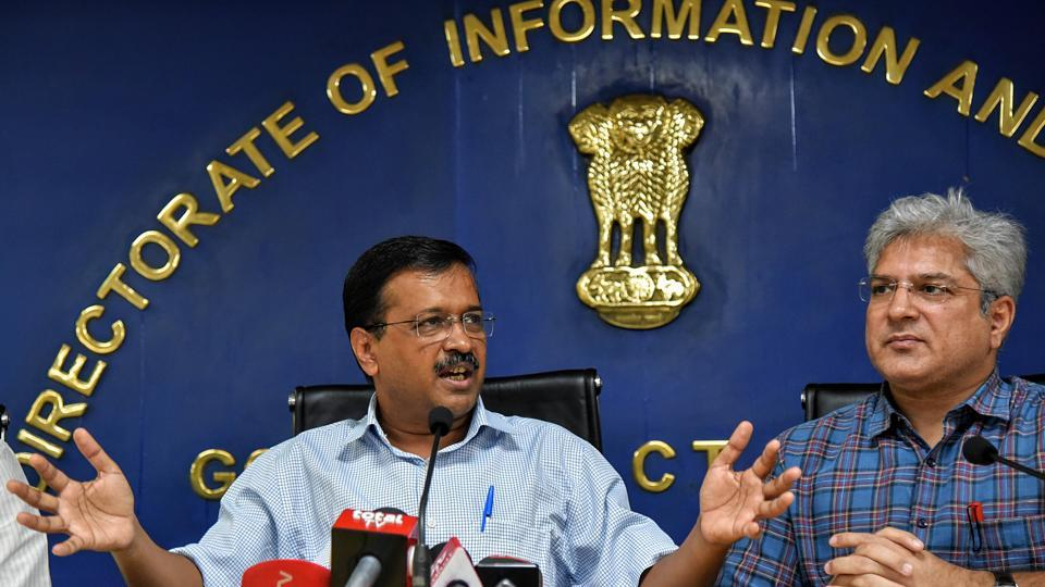 """Chief minister Arvind Kejriwal on Sunday said that the plan to offer free Metro rides to women is """"taking time"""". (ANI Photo)"""