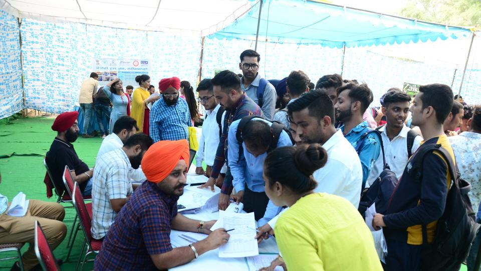 District bureau of employment and enterprises deputy CEO Navdeep Singh says as postgraduates are directly hired by companies through college placements, the participating firms mostly select those who are either diploma holders, graduates, or have studied from ITIs during such job fairs.