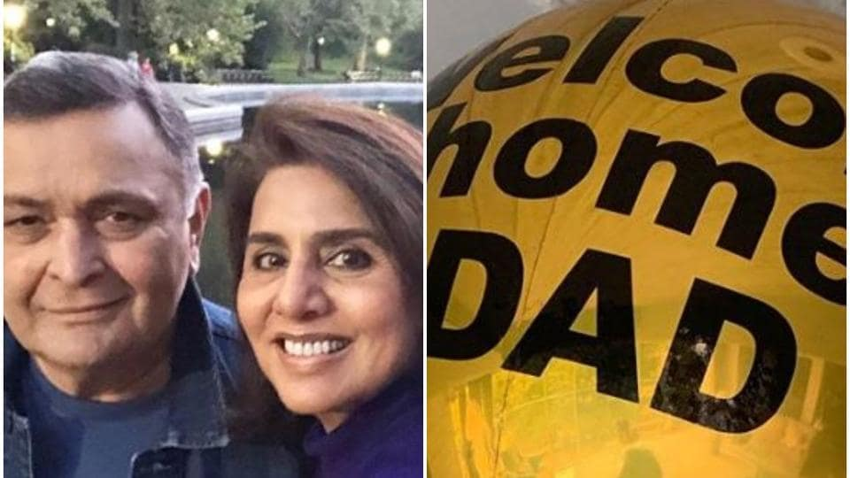 Rishi Kapoor returns from USA  with wife Neetu Singh after cancer treatment