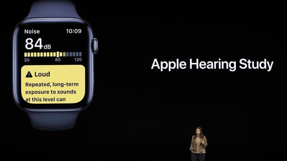Sumbul Desai, MD, Apple's vice president of Health, speaks at an Apple event at their headquarters in Cupertino, California, U.S. September 10, 2019. REUTERS/Stephen Lam