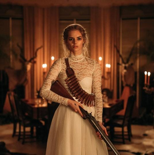 Samara Weaving makes for a compelling lead in a movie that's bonkers, hilarious and makes for searing social commentary. Andie MacDowell and Henry Czerny, as her unhinged parents-in-law, are standouts too.