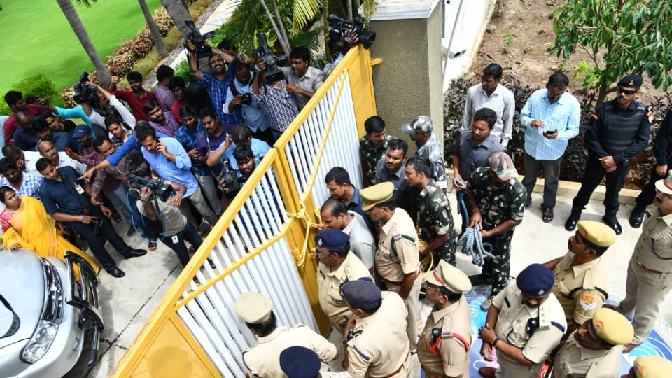 The police stopped Naidu and his son Lokesh, who is an MLC, when they were heading to Atmakur village in Palnadu region in Guntur district along with 127 families, who were allegedly assaulted and hounded out of the region by the ruling YSR Congress ranks last month.