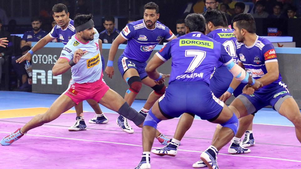 Jaipur Pink Panthers and Haryana Steelers played out a draw.