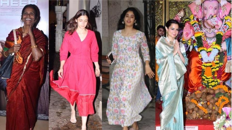 Ranu Mondal, Alia Bhatt, Janhvi Kapoor and Kangana Ranaut spotted in Mumbai.