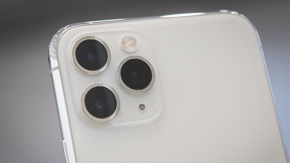 The Apple Inc. iPhone 11 Pro Max smartphone camera is displayed after an event in Cupertino, California, U.S., on Tuesday, Sept. 10, 2019.