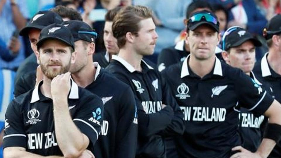 File image of players of New Zealand cricket team looking dejected after losing the World Cup final.